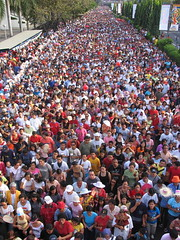 sinulog 2006 - the crowd at its thickest (adlaw) Tags: sinulog sinulog2006 procession stonino festival cebu cebucity philippines people large crowd crowded colorful catholic tradition colors culture religion faith cebusugbo