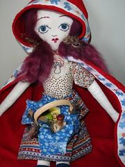 with a basket for grandmother (rachael8amen) Tags: red mos doll handmade softie littleredridinghood cape wildcard mosjanuary2006 tigerluxe