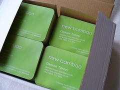 Business cards (Damien Tanner) Tags: cards business newbamboo