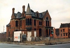 Ransom-Gillis House, Detroit (southofbloor) Tags: houses urban usa tower abandoned set architecture tile fire war michigan farming gothic detroit victorian ruin brush haunted american disaster cbc mysterious segment mansion thehour neogothic wreck encaustic riots ruskin turret burned blight minton albatross ransom gillis ruined ruskinian georgestroumboulopoulos urbanfarming strombo polychromy eddymurphy beverleyhillscop