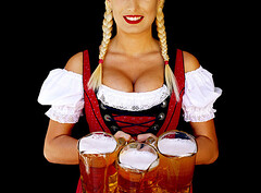 OCTOBERFEST (fotoattack) Tags: red mamiya beer germany healthy pretty boobs blondes 100v10f advertisement clean crisp foam redlips braids nophotoshop cleavage octoberfest oompa sexpot biguns californiagirl fotoattack