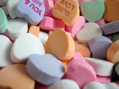 Hearts (Dave Ward Photography) Tags: color colour macro love colors closeup hearts colorful colours candy heart sweet small unfound 2006 valentine tiny valentines colourful conversationhearts davewardsmaragd pss:opd=1138942605 pss:opd=1138923292