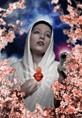"Sta. Anannima (en estilo ""pierre et gilles"") (happins) Tags: santa portrait saint photoshop retrato kitsch colored homage pierreetgilles homenaje ananonima santaananonima coloreado"