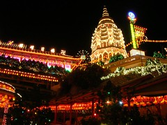 Kek Lok Si Temple (*GT) Tags: night island temple lights lanterns penang kekloksi coolpix5900
