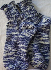 Bleached Denim Socks