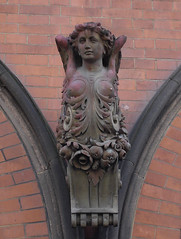 angel or siren? (JudyGr) Tags: red england london shop female wooden carved paint antique traces armless kingscross baroque guesswherelondon londonguessed figurehead onshore gwl wallhanger guessedbytrailerfullofpix angelorsiren