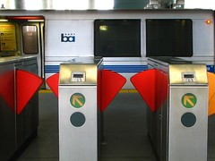 ticket gate (pbo31) Tags: california ca city light red usa signs color reflection station sign northerncalifornia silver season subway grey design words spring publictransportation image metro patterns character letters bart favorites style rail commute sanfranciscobayarea font april commuter characters form masstransit script shape westcoast millbrae trainstaion rapidtransit bayarearapidtransit metroplex foward urbanarea millbraestation millbraebartstation