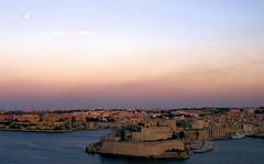 Fort St. Angelo, twilight (moocatmoocat) Tags: st john fort malta knights birgu fortstangelo