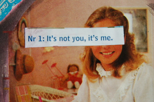 It's not you - detail of collage
