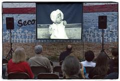 Outdoor Screening (mikerosebery) Tags: louisiana shreveport whoisbozotexino billdaniel documentaryfilm1938