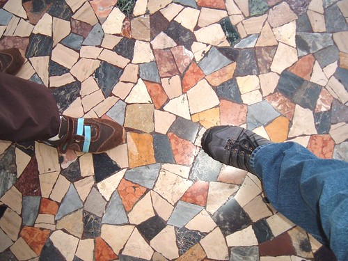 Our feet and a tile floor, Rome