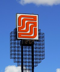 Soriana (ore_reserve) Tags: sky orange sign mexico durango soriana
