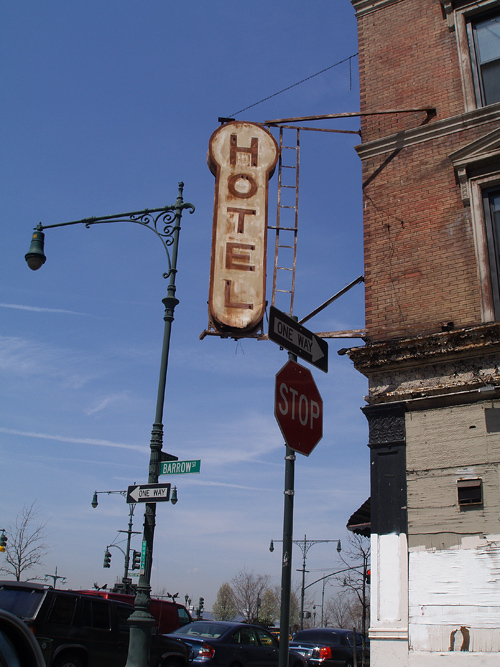 HOTEL sign, west side NYC