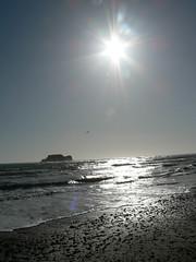 Bright spring sun... (nadiableue) Tags: sea sun beach silver island spring mystical plage