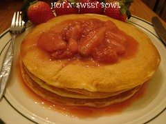 Pancake With Strawberry Syrup