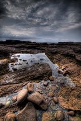 Shellharbour Reflection (alexkess) Tags: ocean sea cloud sun seascape clouds nikon rocks shoreline australia pools nsw d200 hdr wollongong lightroom illawarra shellharbour photomatix 5xp