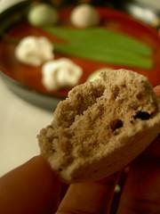 meringue interior :hojicha/ほうじ茶