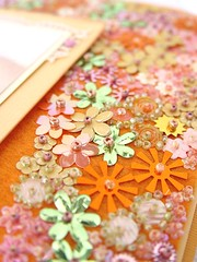 Oh so pretty... (a little bit of just because) Tags: felt handsewn sequins