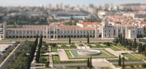 Miniature model of park area in Lisbon
