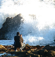 The Big Wave (mythlady/Elise Wormuth) Tags: ocean california white beach coast rocks seascapes photographers exhibition class winner karma cy pescadero californiacoast beanhollow cwd cy2 challengeyouwinner mywinners cy2winner cwd161 cwdweek16 twtmesh220722
