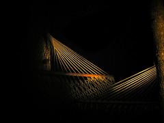 Night Lines (It'sGreg) Tags: lines night hammock illuminatedbyflashlight utata:color=black 24hoursofflickr 43secondsovertheline utata:project=justblack