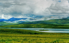 Arctic landscape (Dalephonics) Tags: canada mountains clouds landscape grey arctic yukon plains dempsterhighway beautifulearth