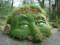 Lost Gardens of Heligan Cornwall (walden1) Tags: sculpture man green art garden moss cornwall mud blueeyes heligan mudsculpture
