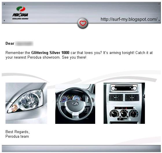 Perodua Viva Teaser Email