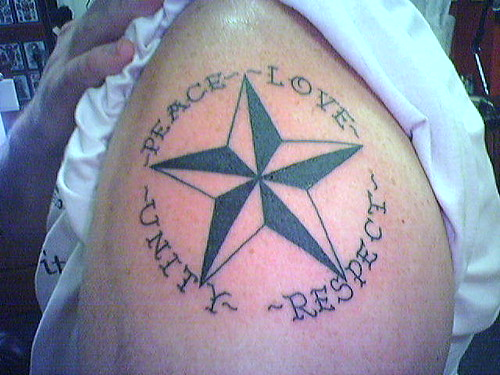 Peace, Love, Unity, and Respect Tattoo