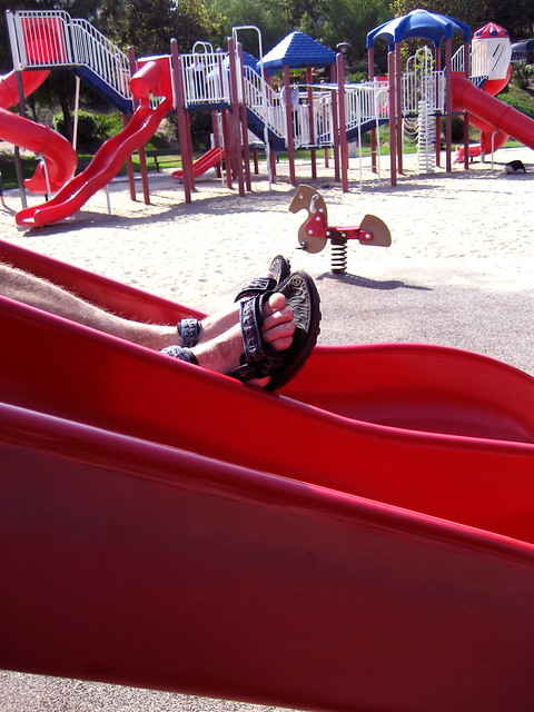 Dad Takes the Slide