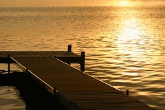 The 1st sunset of Summer (Kathy~) Tags: sunset orange water yellow spring dock chelsea michigan may cw thumbsup dexter northlake bigmomma thechallengegame challengegamewinner pfogold challengew herowinner