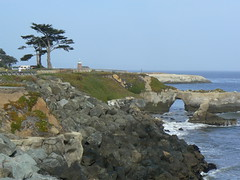 Coastline along Cliff Drive in Santa Cruz