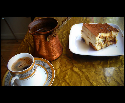 turkish coffee and tiramisu