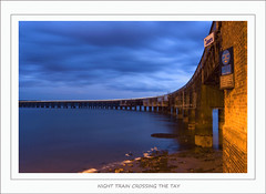 Night Train Crossing the Tay (Magdalen Green Photography) Tags: bridge blue train scotland cool riverside dundee scottish tay trail tayside specobject superbmasterpiece focuslegacy