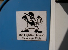The Fightin' Amish Scooter Club (Bagel!) Tags: 2003 california blue santacruz white rally august scooter amish fightin septembershindig