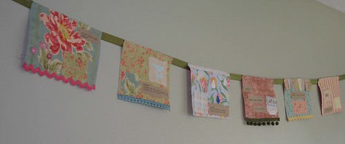 prayer flags: senses series (in pink)