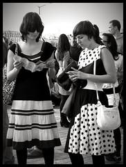 ║║▌▐●○●▐▐○●● (Délicate&Saine) Tags: festival dress lyon noiretblanc robe stripes electro dresscode nuitssonores rayures poids lamodelamodelamode