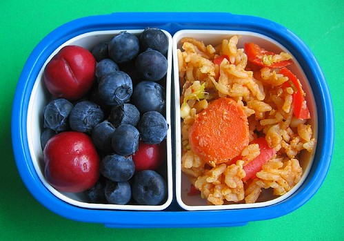 Kimchi fried rice snack for preschooler