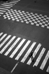 Avenue Dausmenil (Mamzel*D) Tags: road street city bw paris contrast town noiretblanc geometry pedestrian 12 avenue rue arrondissement xii urbain graphism piéton asphalte dausmenil