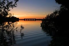 Reservoir sunset (sov) Tags: sunset silhouette reservoir canon5d guernsey channelislands 1740f4l gnd nrgrad
