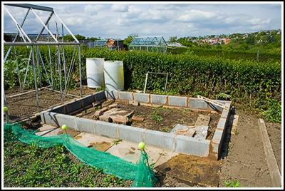 2007-05-20  Allotment - Greenhouse base finished  007 copy