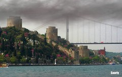 Ancient & New age together (*Saariy*) Tags: bridge sea castle canon turkey relax scenery view trkiye scene istanbul turquie deniz turquia bosphorus kpr boaz turchia turkei hisar supershot instantfave flickrsbest abigfave anawesomeshot holidaysvacanzeurlaub superbmasterpiece flickrdiamond worldwidelandscapes saariysqualitypictures