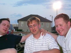 From left to right: Elated, scared and Clark. (tmikem) Tags: antics ouzo peeing hijinx revelry greekfest2007