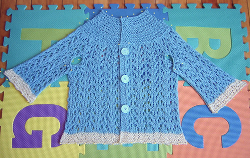 EZ Baby Sweater Blocking