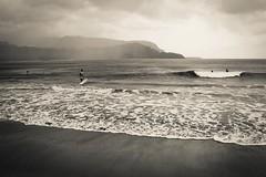 Copy of Kauai b&w47 (chiarina2016) Tags: kauai hawaii island beach monotone blackandwhite chiarinaloggia stormyseas waves trails hiking surf hanalei hanaleibeach sea ocean surfing balihai