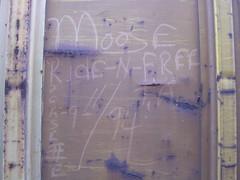 Moose (Valentine Hobart) Tags: ganggraffiti moniker boxcarart ftra freighttrainridersofamerica