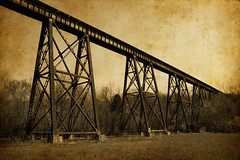 The Pope Lick Trestle (deatonstreet) Tags: railroad trestle bridge pope texture monster architecture train kentucky folklore lick louisville aged legend myth