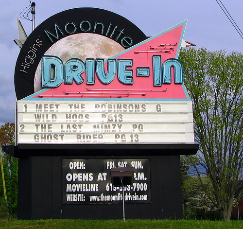 Drive In Movie Theater Sign