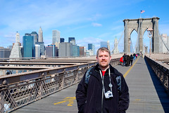 Brett on Brooklyn Bridge