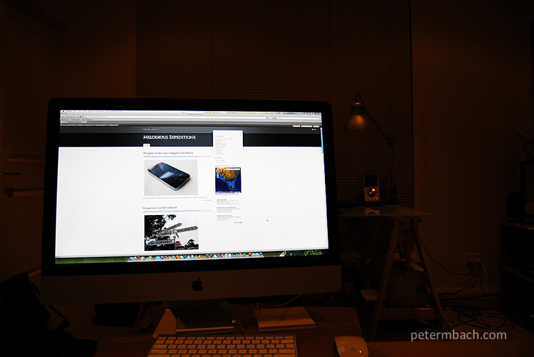 My new iMac (ready for blogging)